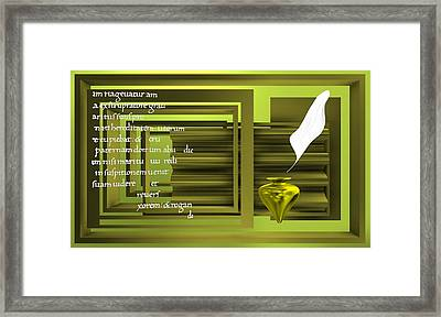 There Are Always Words  Framed Print by Alberto RuiZ
