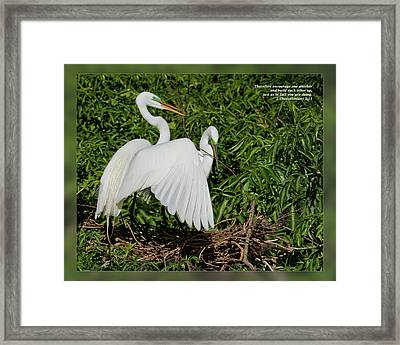 1 Thessalonians 5 11 Framed Print by Dawn Currie