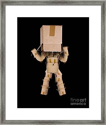 Think Outside The Box Concept Framed Print by Simon Bratt Photography LRPS
