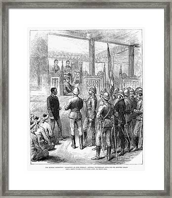 Third Burmese War, 1885 Framed Print by Granger