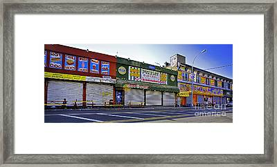 Thirsty In Coney Island Framed Print by Madeline Ellis