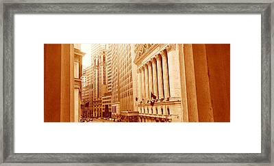 This Is A Sepiatone View Looking Framed Print by Panoramic Images