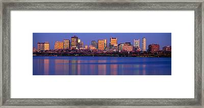 This Is The State Capitol And Skyline Framed Print by Panoramic Images