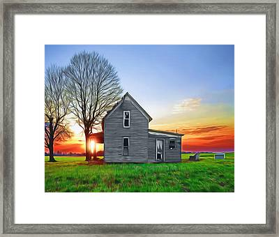 This Old House Framed Print by Steven  Michael