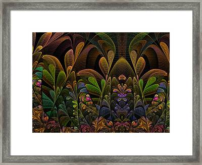 Framed Print featuring the digital art This Peculiar Life - Fractal Art by NirvanaBlues