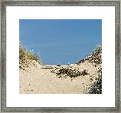 Framed Print featuring the photograph This Way To The Beach by Michelle Wiarda