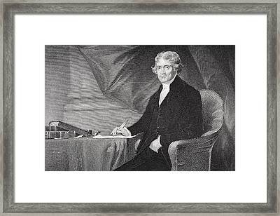 Thomas Jefferson 1743-1826. Third Framed Print