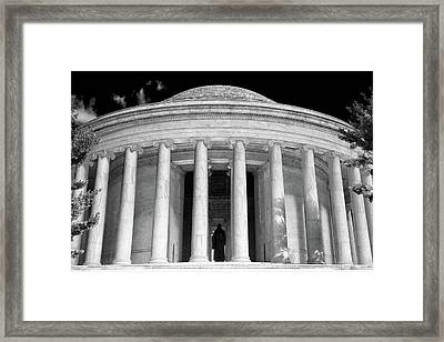 Framed Print featuring the photograph Thomas Jefferson Memorial  by Mitch Cat