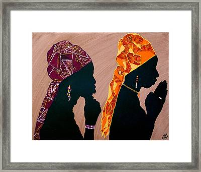 Thought And Prayer Framed Print by Kayon Cox