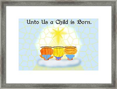 Three Angels Framed Print by Chere Lei