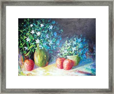 Three Apples Framed Print by Carl Lucia