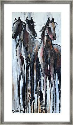 Framed Print featuring the painting Three by Cher Devereaux