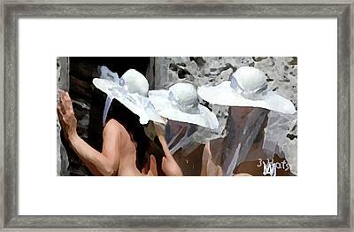 Three Hats Framed Print by Leo Malboeuf