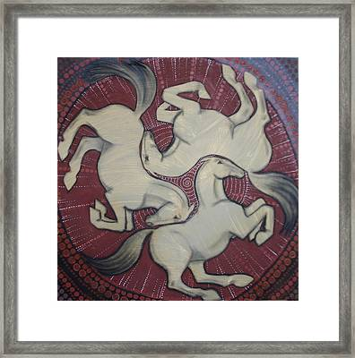 Three Horses Framed Print by Sophy White