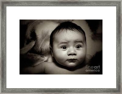 Three Month Old Baby Boy Framed Print by Tom Gowanlock