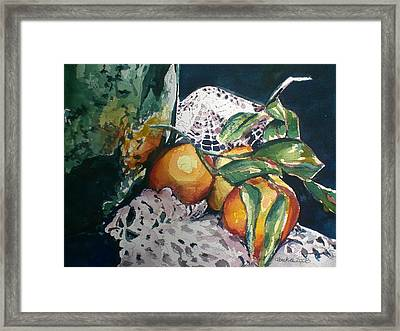 Three Oranges Framed Print by Aleksandra Buha