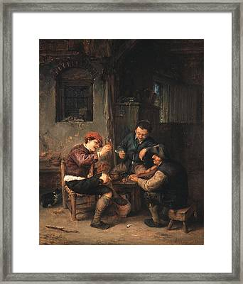 Three Peasants At An Inn Framed Print