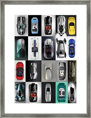 Three Perspective Cars Framed Print