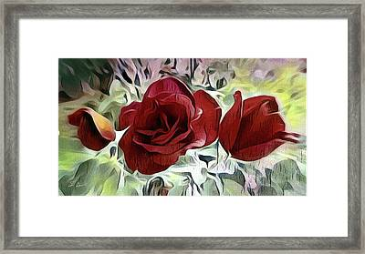Three Roses Framed Print by S Art