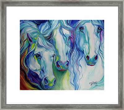 Three Spirits Equine Framed Print by Marcia Baldwin