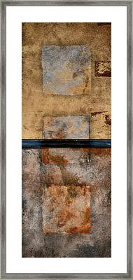Three Squared Series Of Two Framed Print by Carol Leigh