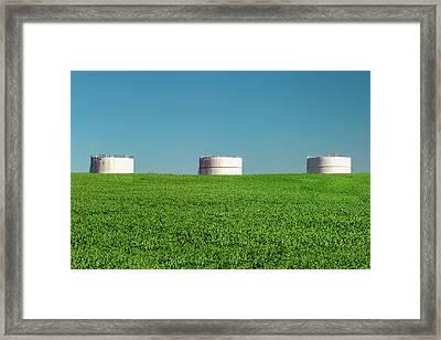 Three Storage Bins Framed Print