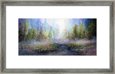 Through The Mist Framed Print by Ann Marie Bone