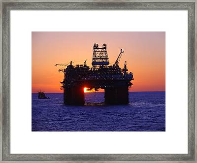 Framed Print featuring the photograph Thunder Horse At Sunset by Charles and Melisa Morrison