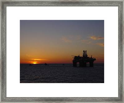 Framed Print featuring the photograph Thunder Horse Tow Out by Charles and Melisa Morrison
