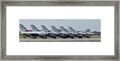 Thunderbirds Framed Print by Dieter Lesche