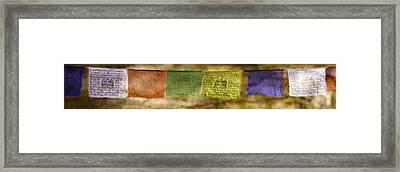 Tibetan Prayer Flags Framed Print by Peter v Quenter