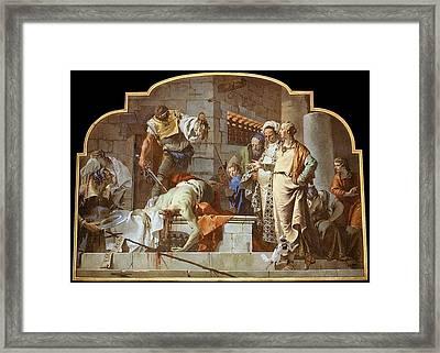 Tiepolo The Beheading Of John The Baptist Giovanni Battista Tiepolo Framed Print