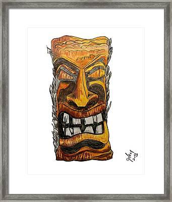 Tiki Art Framed Print by W Gilroy