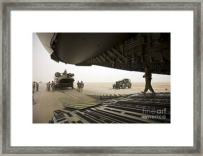 Tikrit, Iraq - A Ch-47 Chinook Framed Print by Terry Moore