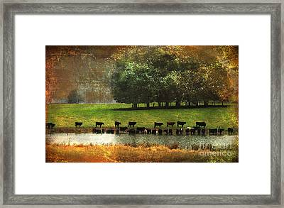 Till The Cows Come Home Framed Print by Olivia Hardwicke