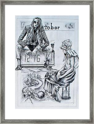 Time Between Women Framed Print
