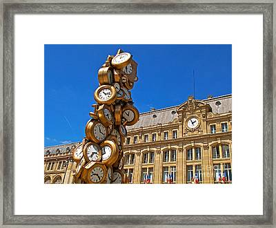 Time For All Framed Print by Alex Cassels