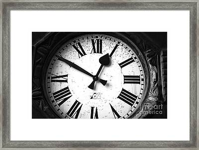 Time Stands Still Mono Framed Print by John Rizzuto