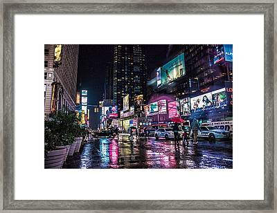 Times Square Nyc Framed Print by Martin Newman