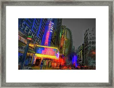 Framed Print featuring the photograph Times Square by Theodore Jones