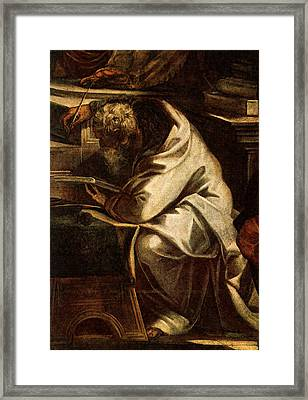 Tintoretto Christ Before Pilate  Framed Print by Jacopo Robusti Tintoretto