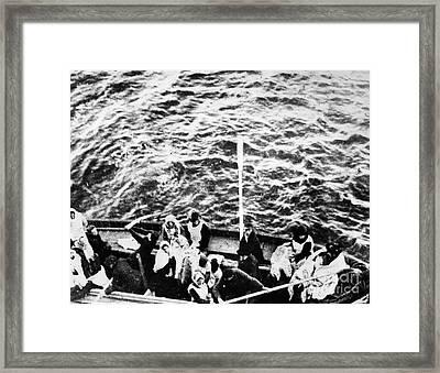 Titanic: Lifeboats, 1912 Framed Print