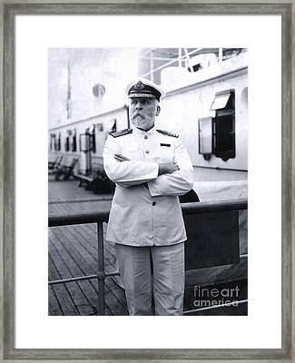 Titanic's Captain Edward John Smith Framed Print
