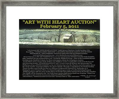 Tobacco Barn In Winter Framed Print by Phillip H George