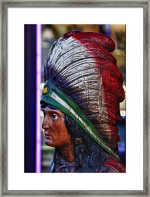 Tobacco Store Indian Framed Print by Robert Ullmann