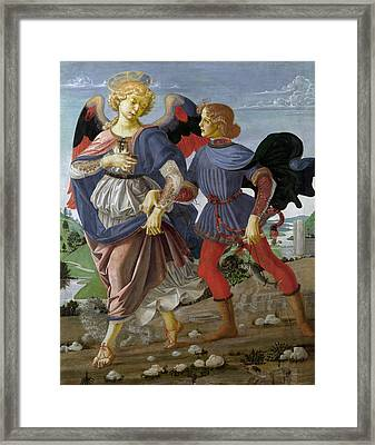 Tobias And The Angel Framed Print by Andrea del Verrocchio