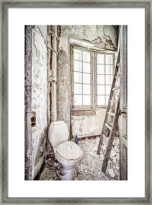 Toilet Escape Abandoned Places Framed Print by Dirk Ercken