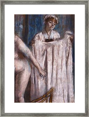 Toilette After The Bath Framed Print