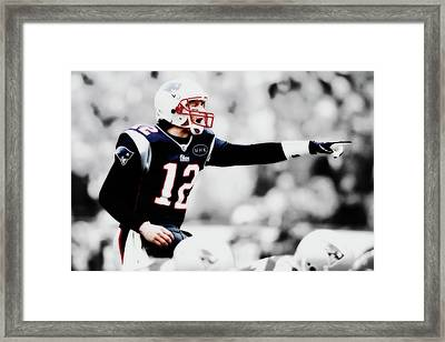 Tom Brady Air Traffic Controller Framed Print by Brian Reaves