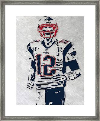 Tom Brady New England Patriots Pixel Art 5 Framed Print